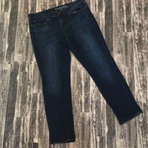Gap always skinny coupe size 8 dark wash jeans